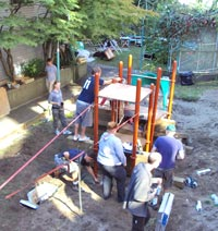 building the playground